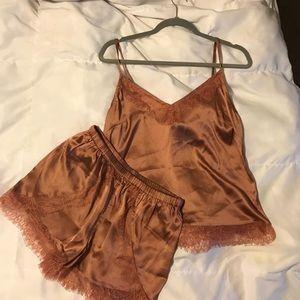 TOPSHOP Ella lace pajama set